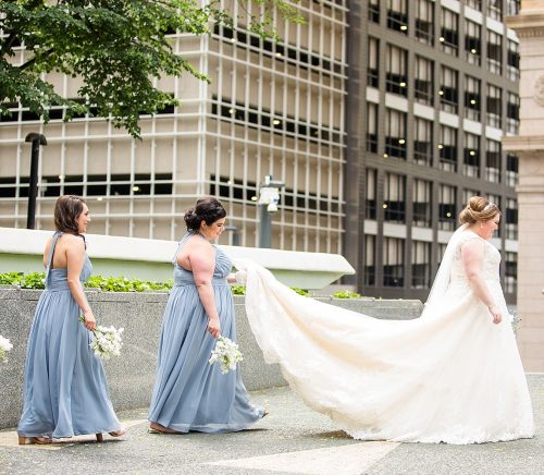 Blue Agate Wedding at the Embassy Suites Downtown. For more glamorous wedding ideas, visit burghbrides.com!