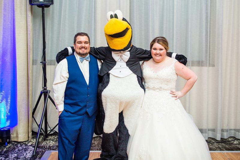 Pittsburgh Penguins mascot at wedding
