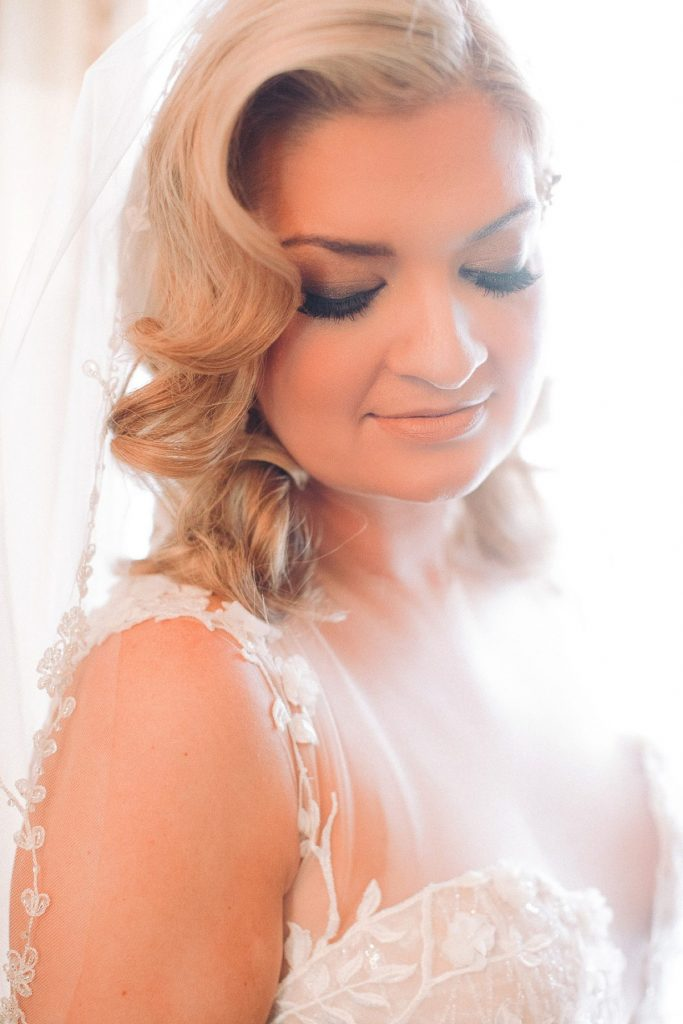 Soft and smokey bridal makeup