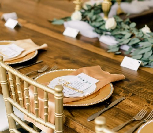 Modern Fairy Tale Wedding at The Grand Estate at Hidden Acres. For more ivory and gold wedding inspiration, visit burghbrides.com!