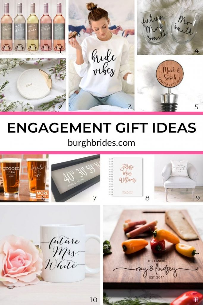 Engagement Gifts for the New Bride to Be in Your Life. For more wedding planning tips, visit burghbrides.com!