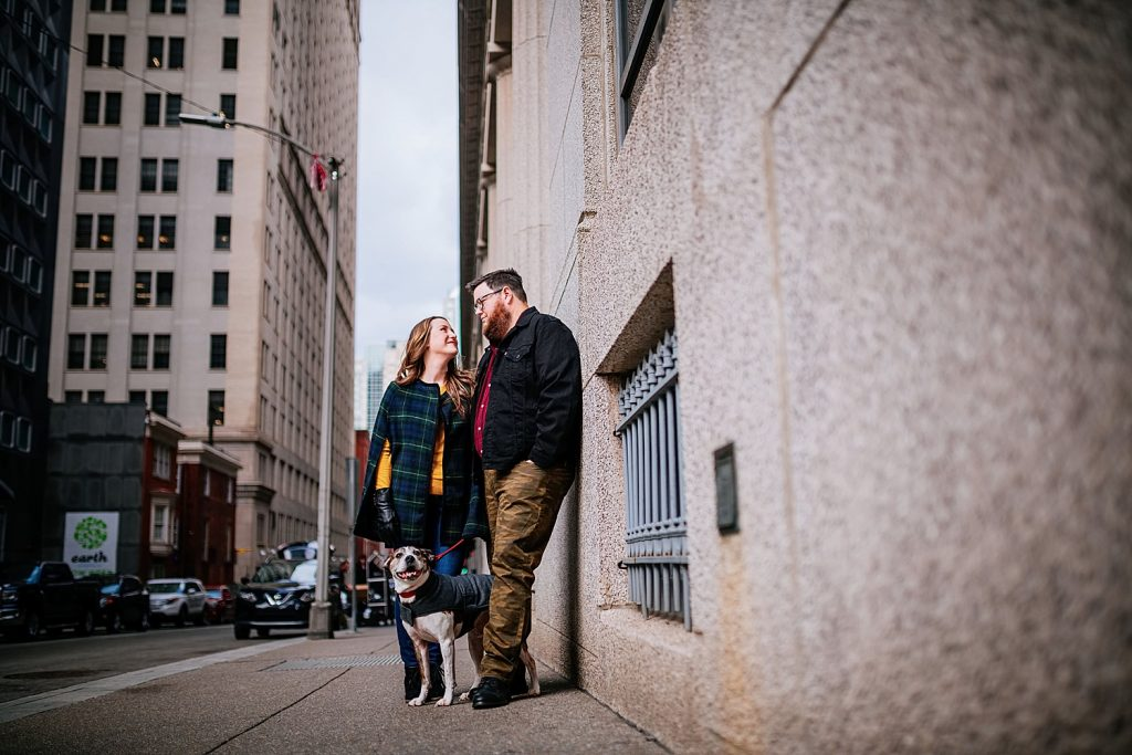 Casual & Cool Hotel Monaco Engagement Session. For more Pittsburgh wedding ideas, visit burghbrides.com!