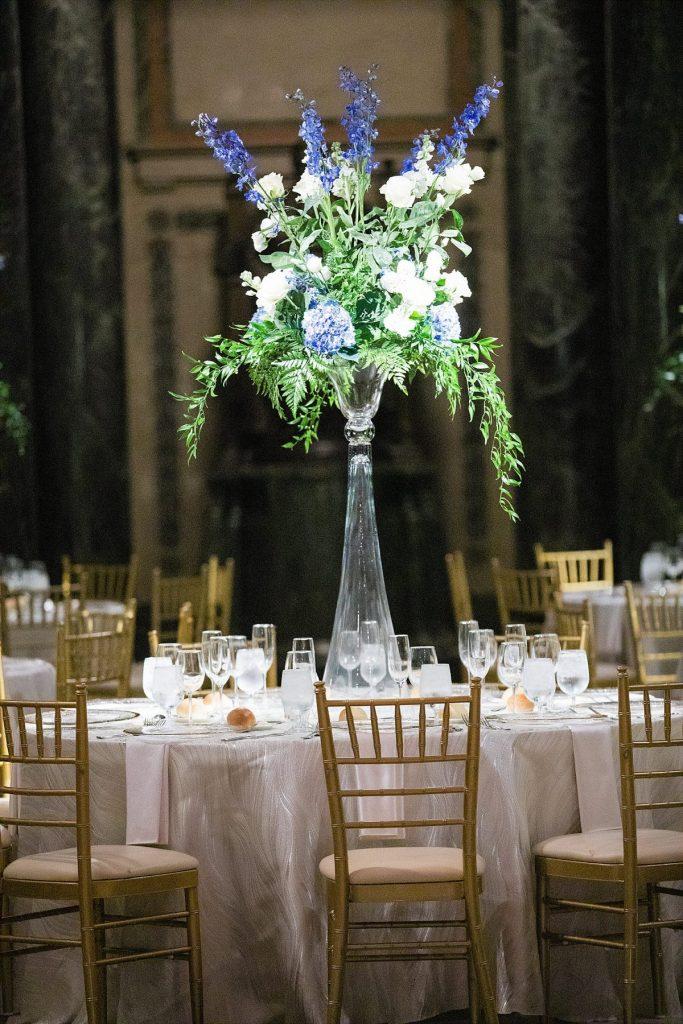 Blue & Green Carnegie Museum Wedding. For more luxury wedding ideas, visit burghbrides.com!