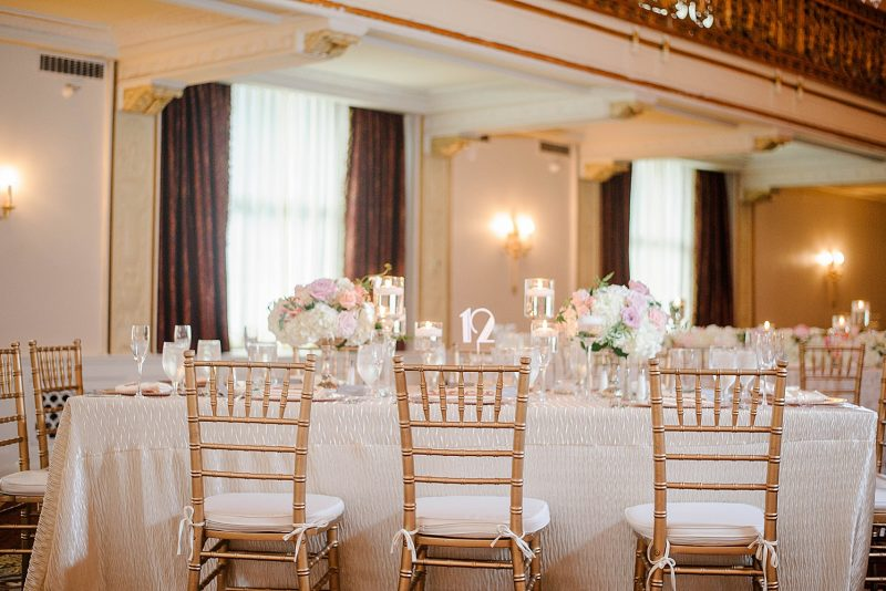 Luxurious Blush Pink Wedding at the Omni William Penn Hotel. For more blush pink wedding ideas, visit burghbrides.com!