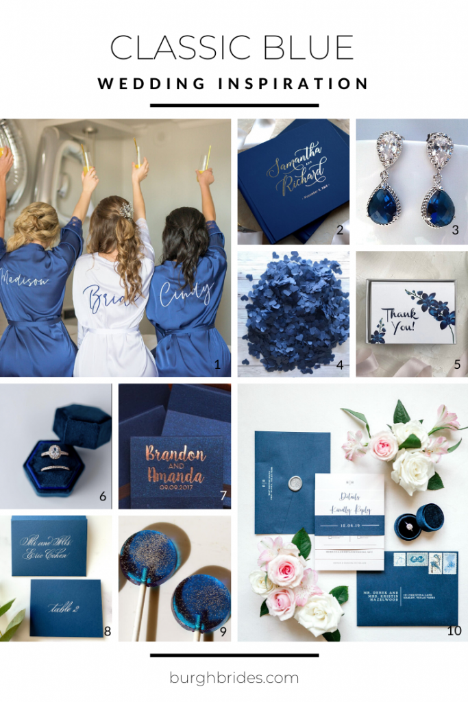 Classic Blue Wedding Inspiration. For more wedding color ideas, visit burghbrides.com!