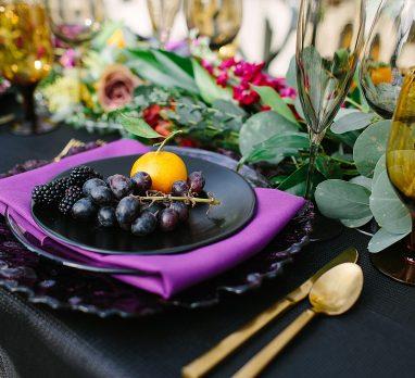 Dark & Regal Wedding Inspiration. For more unique wedding inspiration, visit burghbrides.com!