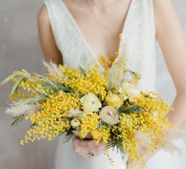 Grecian Lemon Wedding Inspiration. For more yellow wedding ideas, visit burghbrides.com!