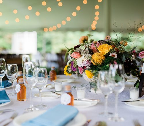 Colorful Mountain Inspired Backyard Wedding. For more fun wedding ideas, visit burghbrides.com!