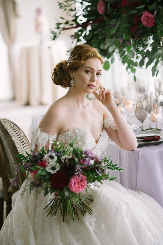 Rich Whimsical Wedding Inspiration. For more fall wedding ideas, visit burghbrides.com!