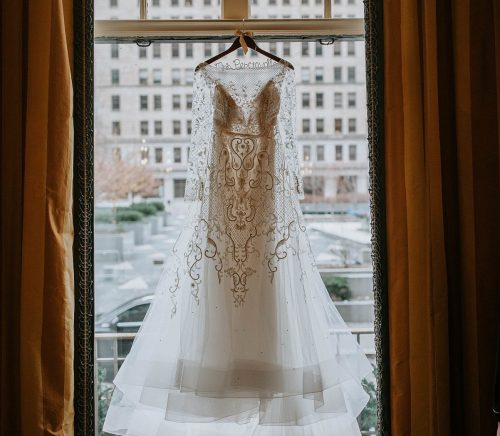 Oxblood & Gold Omni William Penn Hotel Wedding. For more December wedding inspiration, visit burghbrides.com!