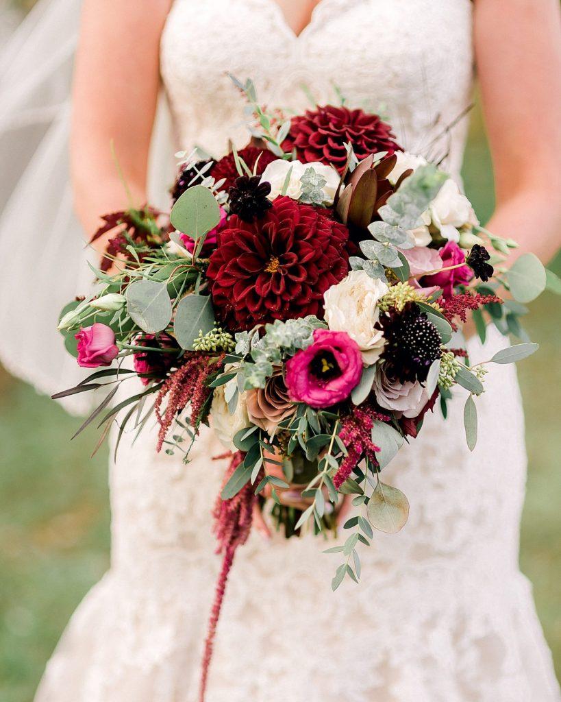 Pretty Glam Barn Wedding at Rustic Acres Farm. For more farm wedding ideas, visit burghbrides.com!