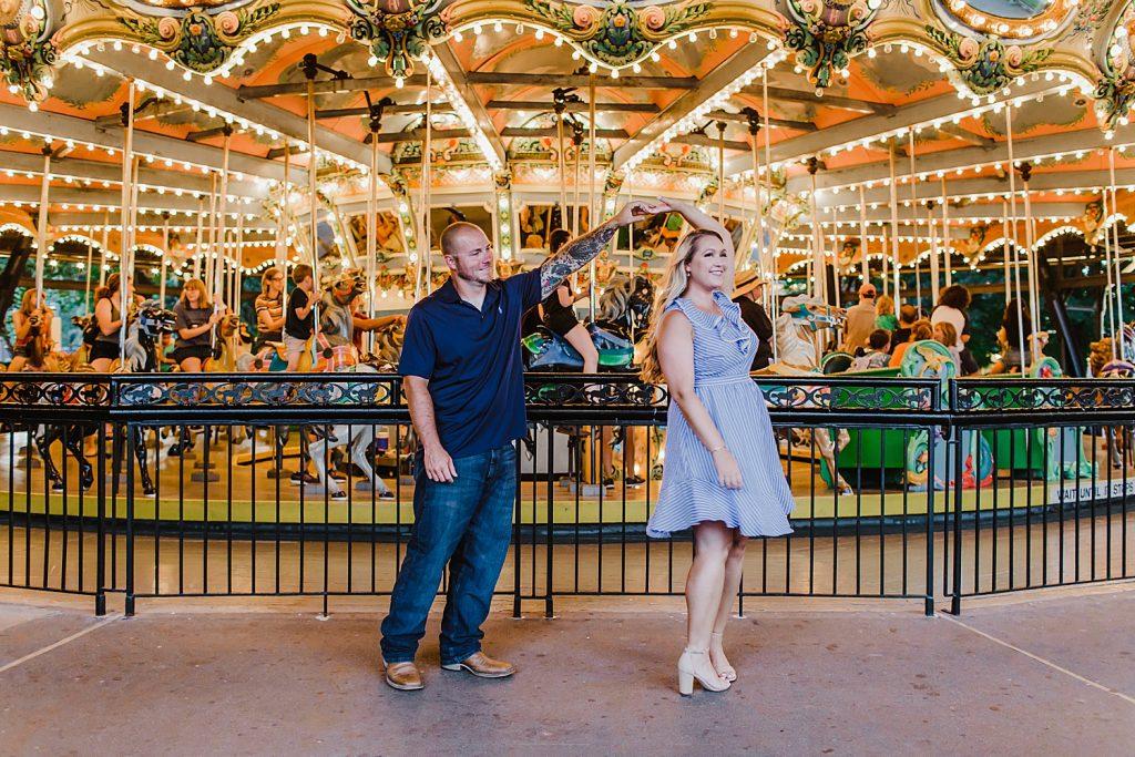 Super Fun Kennywood Engagement Session. For more summer engagement session ideas, visit burghbrides.com!