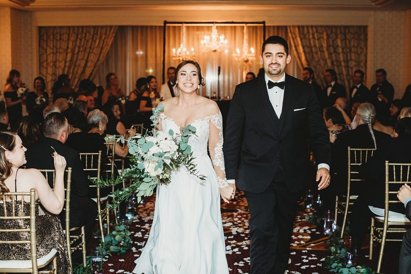 Timeless Pittsburgh New Year's Eve Wedding Celebration. For more NYE wedding ideas, visit burghbrides.com!