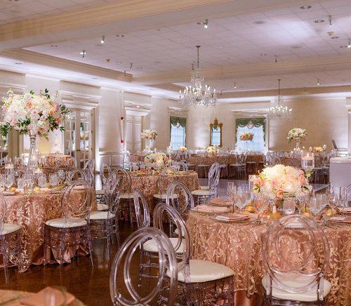 Glamorous Rose Gold Pittsburgh Field Club Wedding. For more blush pink wedding ideas, visit burghbrides.com!