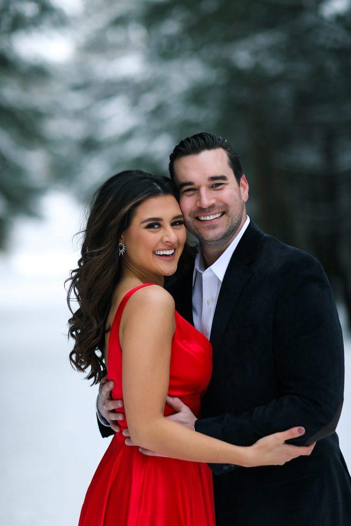 Picturesque Winter Engagement Session. For more winter wedding ideas, visit burghbrides.com!