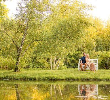 Sunny Succop Nature Park Engagement Session. For more outdoor engagement photo ideas, visit burghbrides.com!