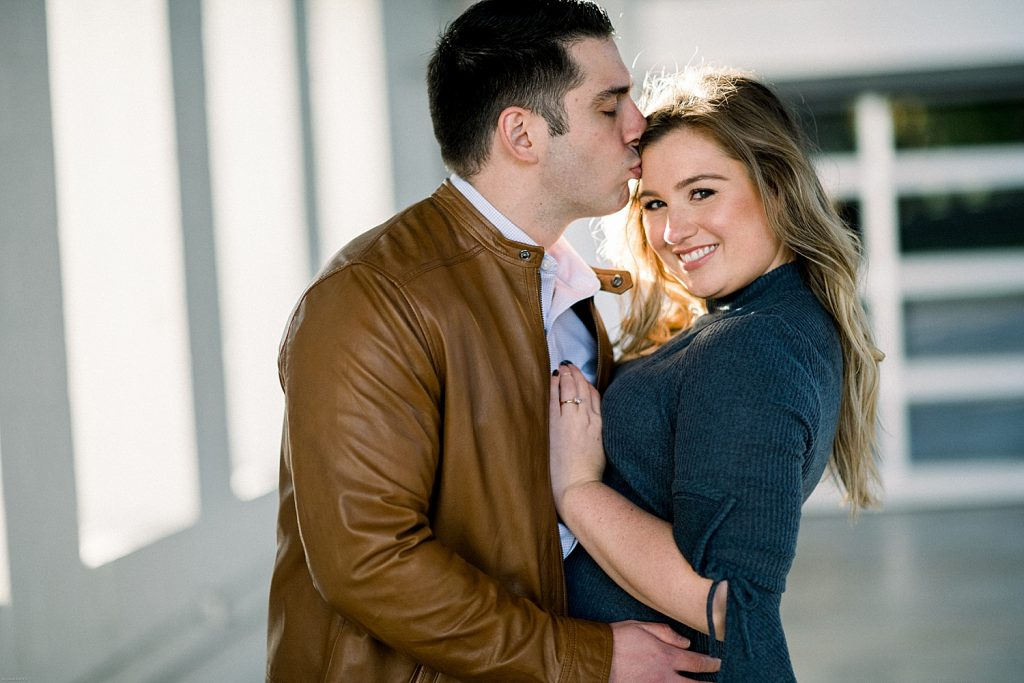 Sweet Riverfront Park Engagement Session. For more fall engagement photo ideas, visit burghbrides.com!