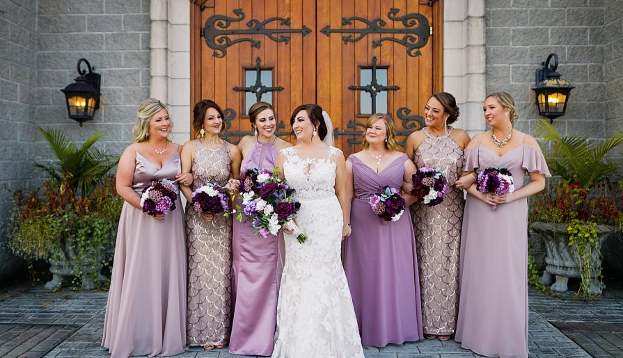 Wintery Purple Wedding at Shakespeare's. For more fairy tale wedding ideas, visit burghbrides.com!