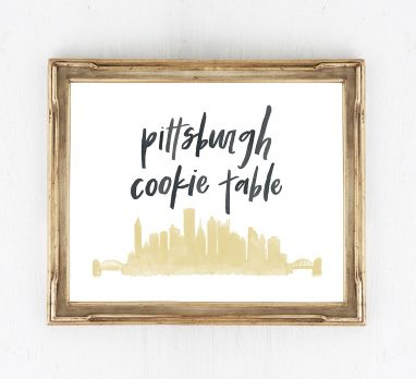 Pittsburgh Cookie Table Ideas from Etsy. For more Pittsburgh wedding ideas, visit burghbrides.com!