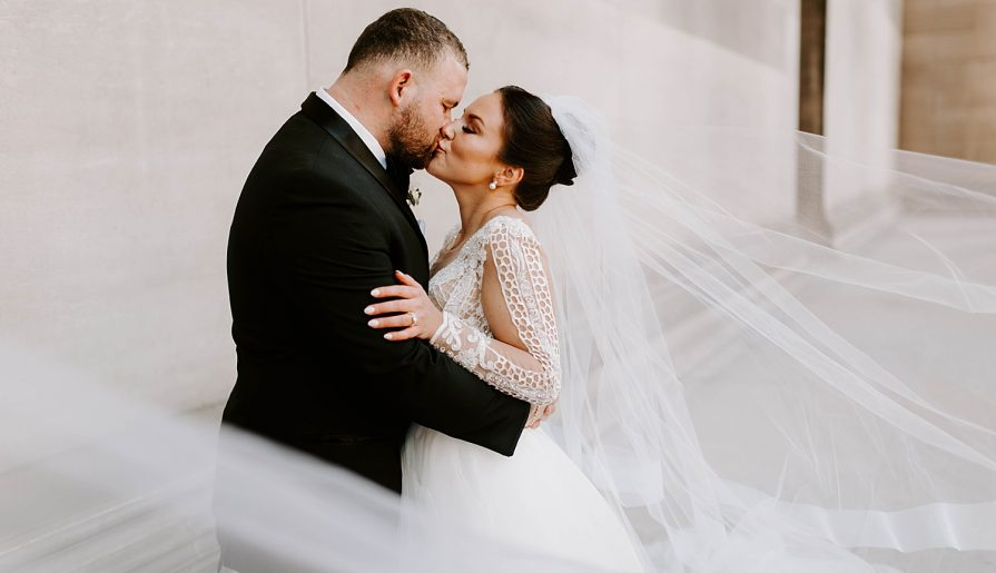 Meaningful Black & Gold Wedding at the Crowne Plaza Pittsburgh South. For more Pittsburgh wedding ideas, visit burghbrides.com!