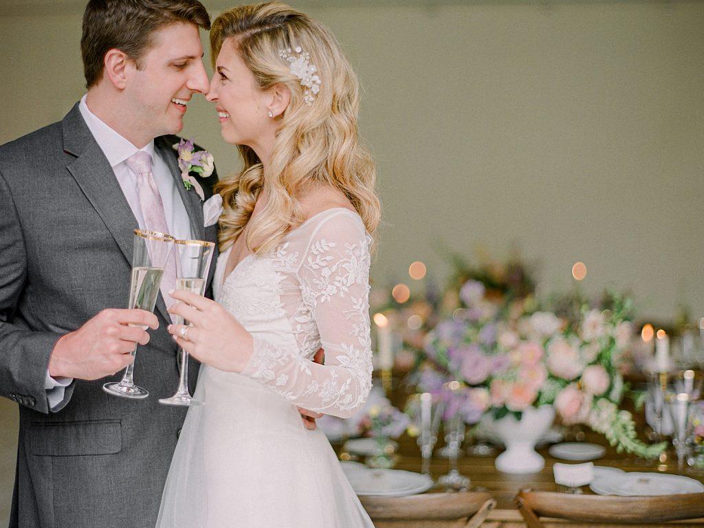 Watercolor Wedding Inspired Styled Shoot. For more fine art wedding inspiration, visit burghbrides.com!