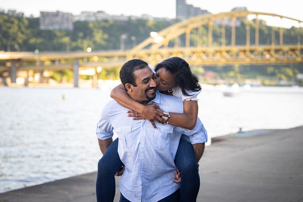 Black Lives Matter Pittsburgh Engagement Session. For more Pittsburgh wedding ideas, visit burghbrides.com!
