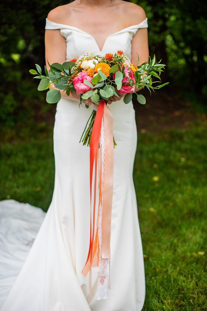 Bright & Beautiful Backyard Micro Wedding. For more small wedding ideas, visit burghbrides.com!