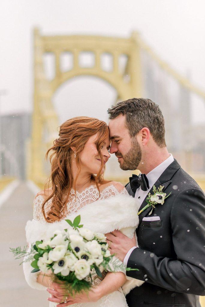 Emerald Green PPG Wintergarden Wedding. For more winter wedding ideas, visit burghbrides.com!