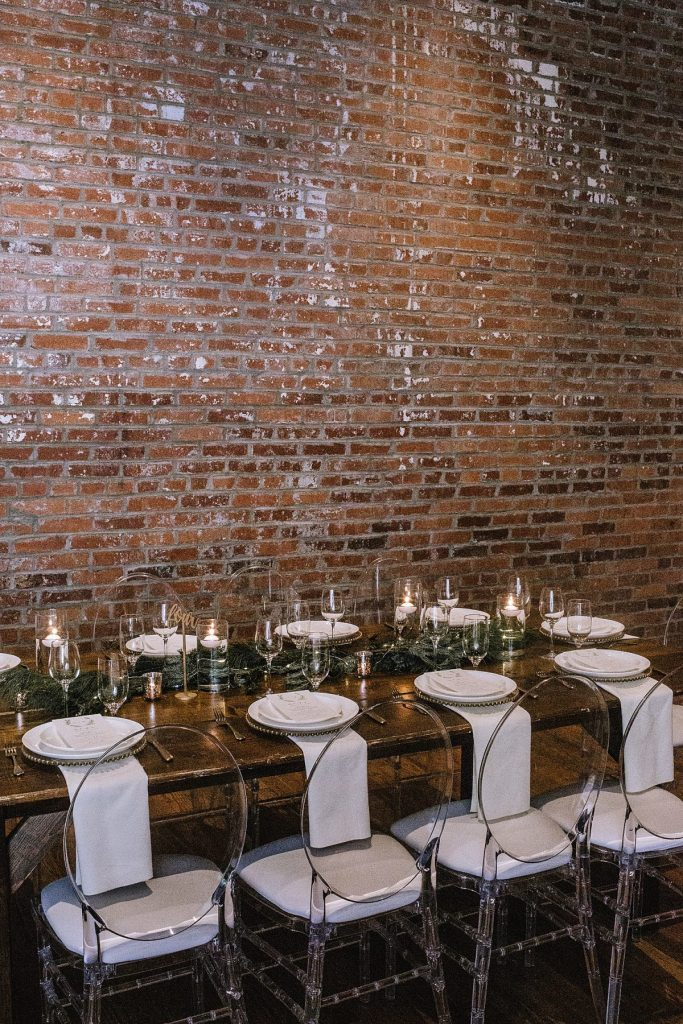 Industrial Winter Chic Wedding at Slate. For more winter wedding inspiration, visit burghbrides.com!
