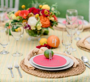 Summery Citrus Wedding Inspired Styled Shoot. For more summer wedding ideas, visit burghbrides.com!