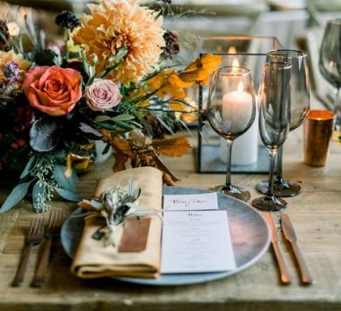 Moody Chic Wedding Inspiration. For more fall wedding ideas, visit burghbrides.com!