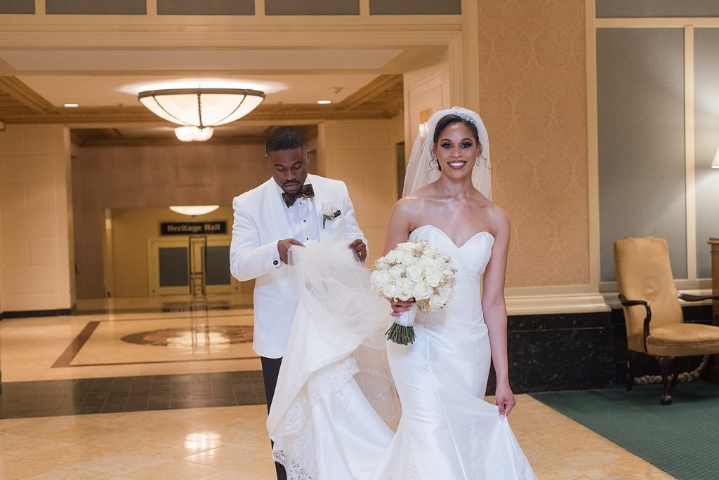 Classic Omni William Penn Wedding with Nigerian Traditions. For more elegant wedding ideas, visit burghbrides.com!