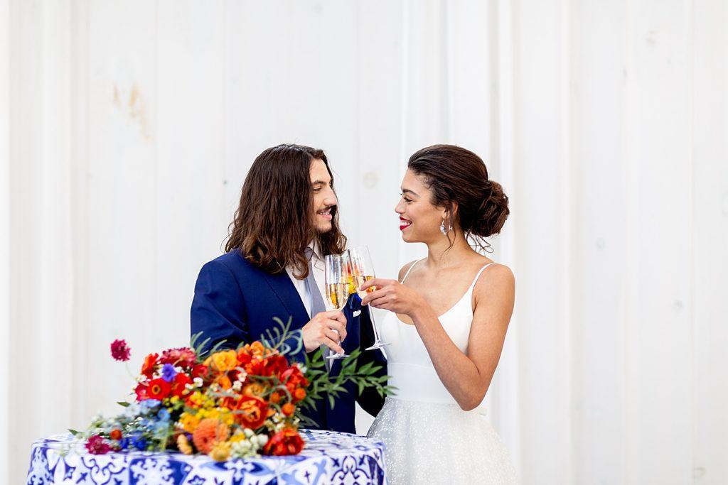 Bright, Bold, & Whimsical Wedding Inspiration. For more colorful wedding inspiration, visit burghbrides.com!