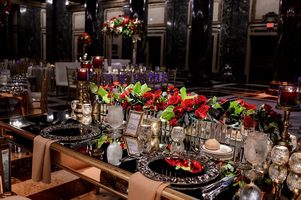 Glamorous Cultural Wedding at the Carnegie Museum. For more luxury wedding ideas, visit burghbrides.com!
