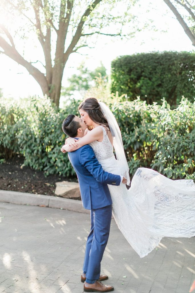 Sweet & Simple At Home Wedding. For more backyard wedding ideas, visit burghbrides.com!