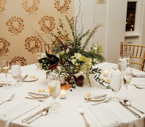 Wintery Woodlands Omni Bedford Springs Wedding. For more winter wedding ideas, visit burghbrides.com!