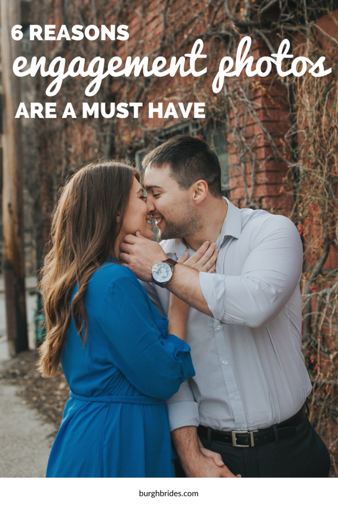 6 Reasons Engagement Photos Are a Must Have. For more engagement tips, visit burghbrides.com!