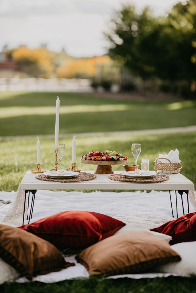 Autumn Picnic Proposal & Engagement Celebration Inspiration. For more proposal planning tips, visit burghbrides.com!