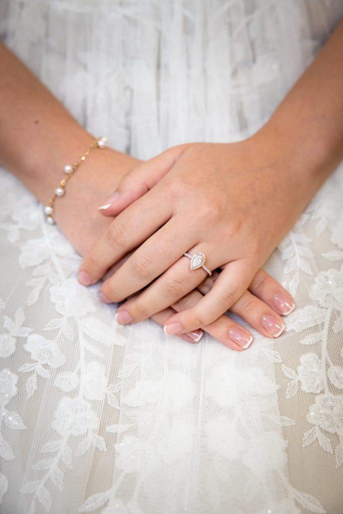 Intimate Vintage Backyard Wedding. For more micro wedding ideas, visit burghbrides.com!