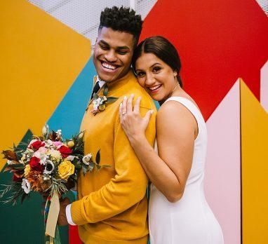 Mr. Rogers Wedding Inspired Styled Shoot. For more colorful wedding inspiration, visit burghbrides.com!