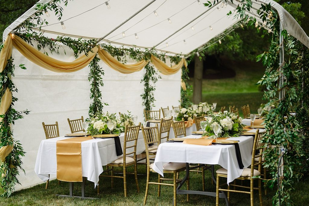 Timeless Backyard Wedding Inspired by Family Traditions. For more intimate wedding ideas, visit burghbrides.com!