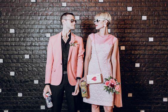 Vintage Vegas Wedding Inspiration. For more wedding color ideas, visit burghbrides.com!