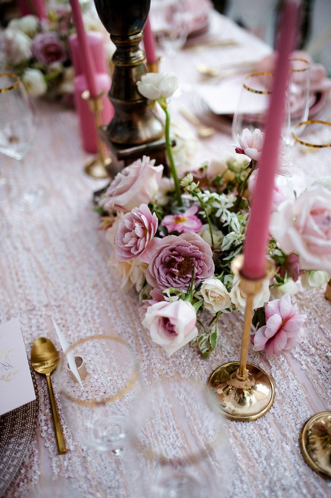 Pretty In Pink Garden Wedding Inspired Styled Shoot. For more blush pink wedding ideas, visit burghbrides.com!