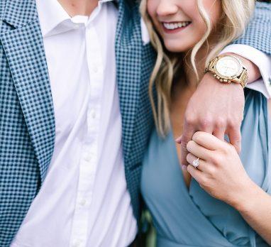 Stylish Pale Blue Mellon Park Engagement Session. For more Pittsburgh engagement inspiration, visit burghbrides.com!