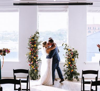 Monday Elopement at the Union Hall at Bar Marco. For more Pittsburgh elopement ideas, visit burghbrides.com!