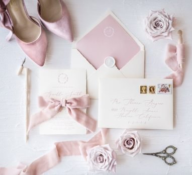 Cherry Blossom Wedding Inspiration. For more blush pink wedding ideas, visit burghbrides.com!