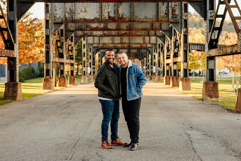 Bold & Funky Engagement Session. For more Pittsburgh engagement ideas, visit burghbrides.com!