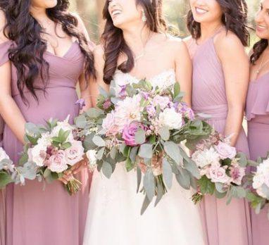 Modern Mauve Wedding Inspiration. For more wedding color palette ideas, visit burghbrides.com!