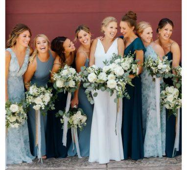 Shades of Blue Wedding Inspiration. For more wedding color ideas, visit burghbrides.com!