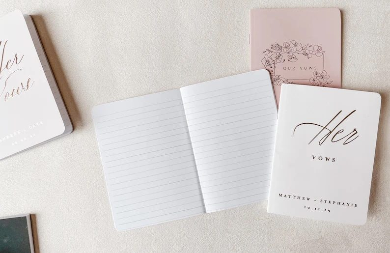 The Prettiest Wedding Vow Books for Your I Dos. For more wedding ideas, visit burghbrides.com!